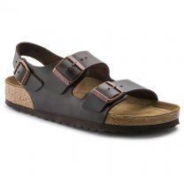 BIRKENSTOCK Unisex Milano Soft Footbed Testa Di Moro (brown) Amalfi Leather- 0234541