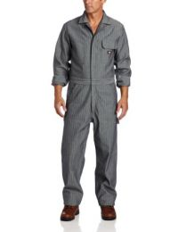 Dickies Men's Long Sleeve Fisher Stripe Cotton Coverall