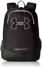 Under Armour Boy's Storm Scrimmage Backpack, Black (001)/Silver, One Size