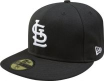 New Era MLB Black with White 59FIFTY Fitted Cap
