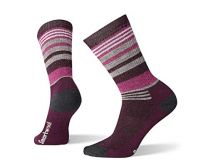 Smartwool Hiking Crew Socks -  Women?s Striped, Medium Cushioned Wool Performance Sock