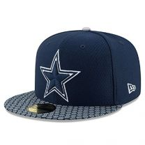 Dallas Cowboys New Era 2017 Sideline 59FIFTY Fitted Hat - Blue