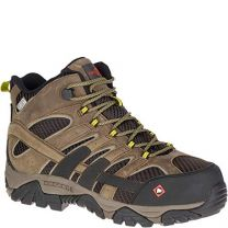 Merrell Moab 2 Vent Mid Waterproof Comp Toe Work Boot Wide Width -